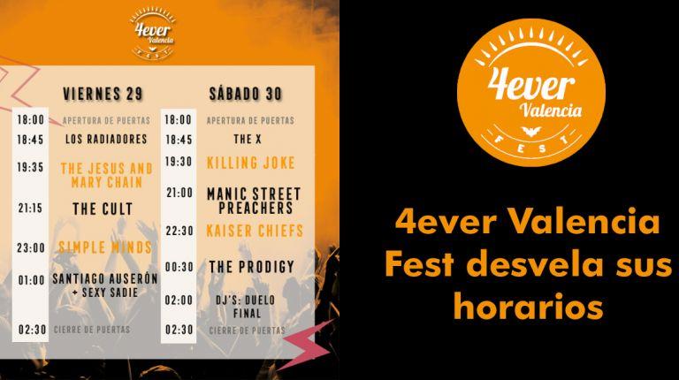 4ever Valencia Fest desvela sus horarios