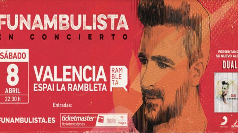 Funambulista concierto de presentación en Valencia