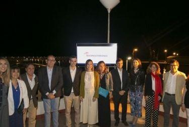 Gandia celebra el inicio de la temporada de verano de Transmediterránea