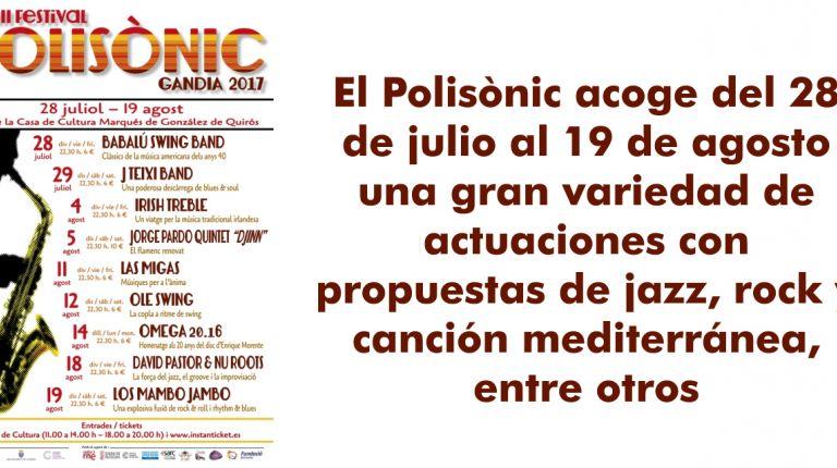 La Diputación se suma a las músicas del mundo que aporta el festival Polisònic de Gandia